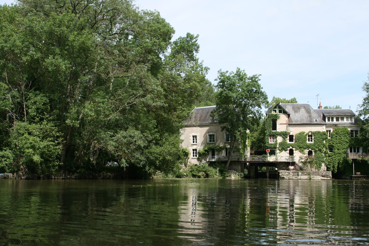 mill from the river