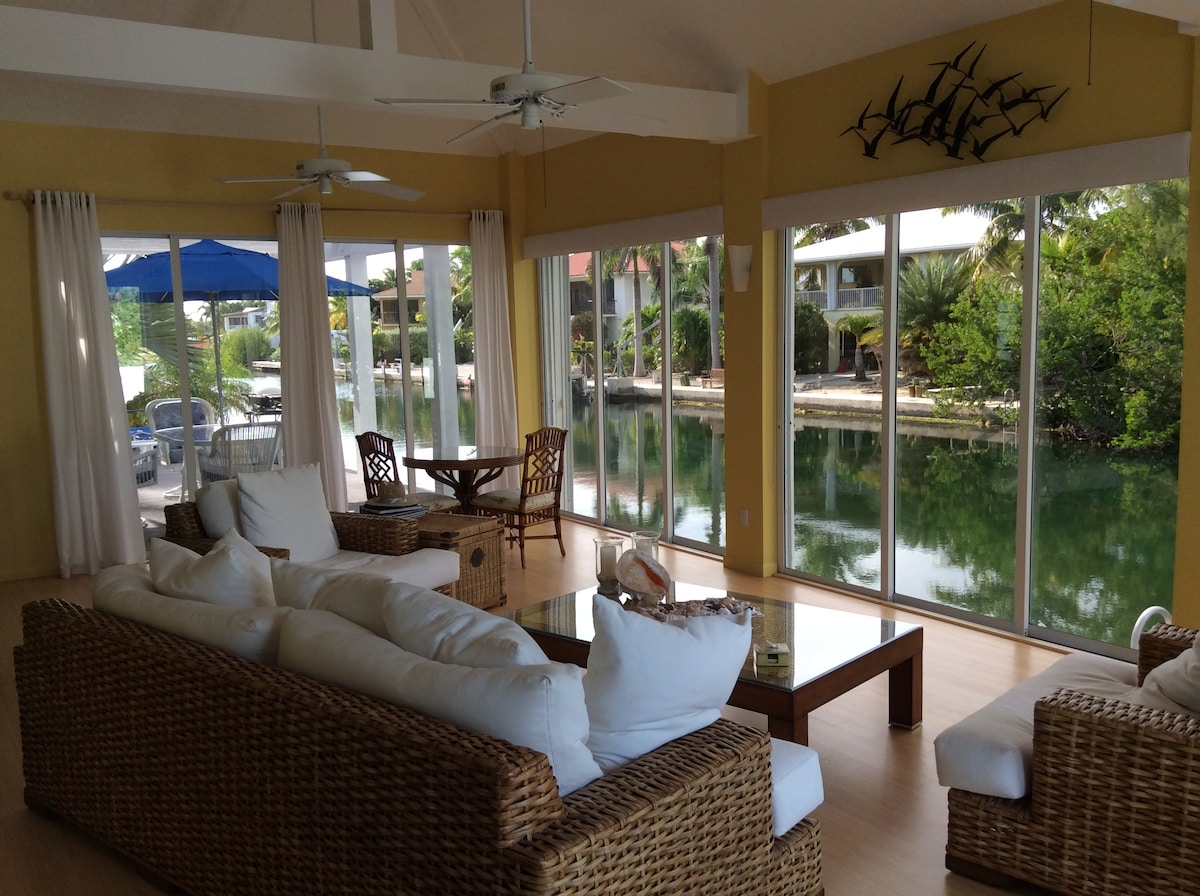 Luxury waterfront island style home