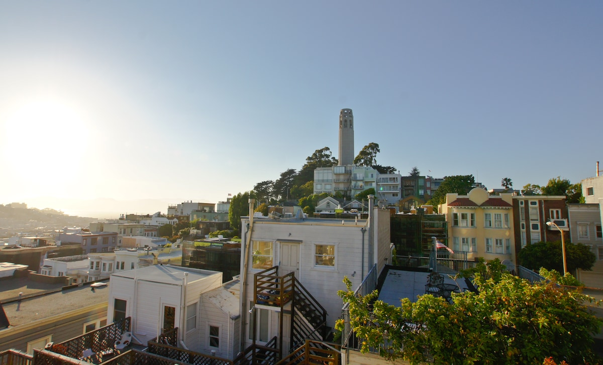 Top of Telegraph Hill by Coit Tower