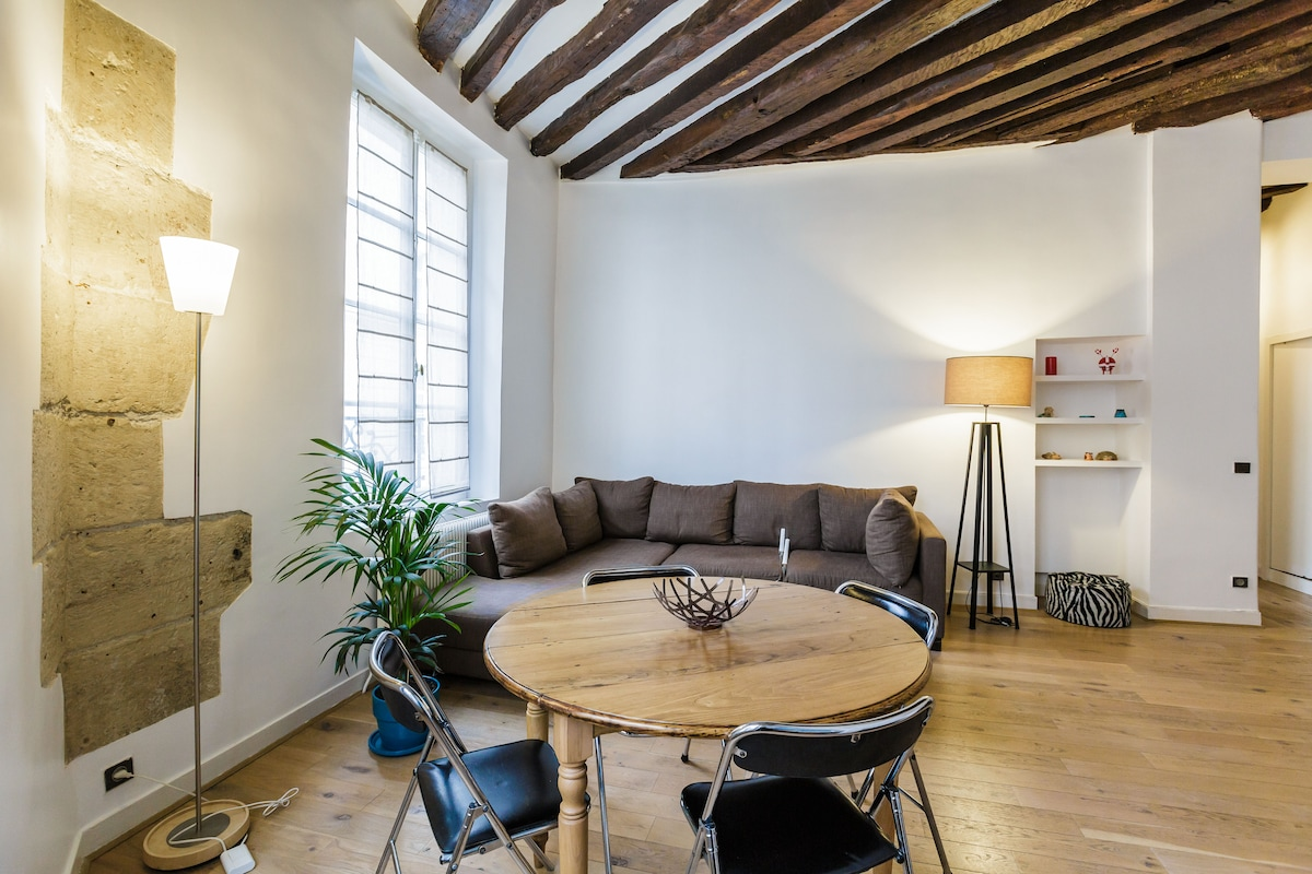 "Beautiful flat in ""Le Marais""."