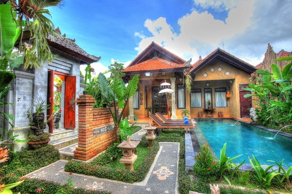 Merta house, unique Bali village
