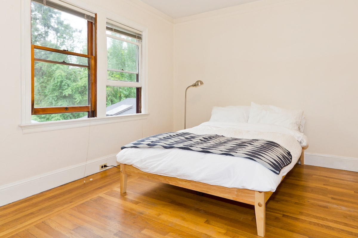 A simple bedroom - full-sized bed.