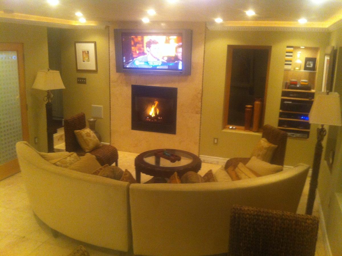 Like a LUXURY HOTEL SUITE Fireplace