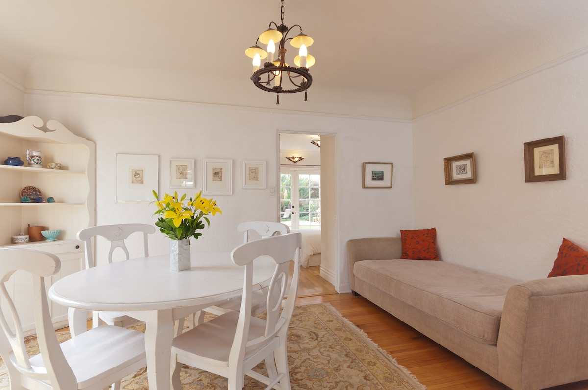 Dining room with outdoor access.