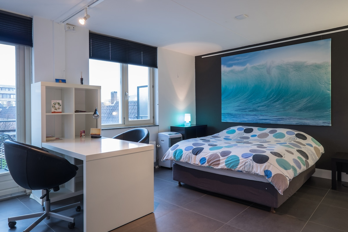 Modern guest room in downtown