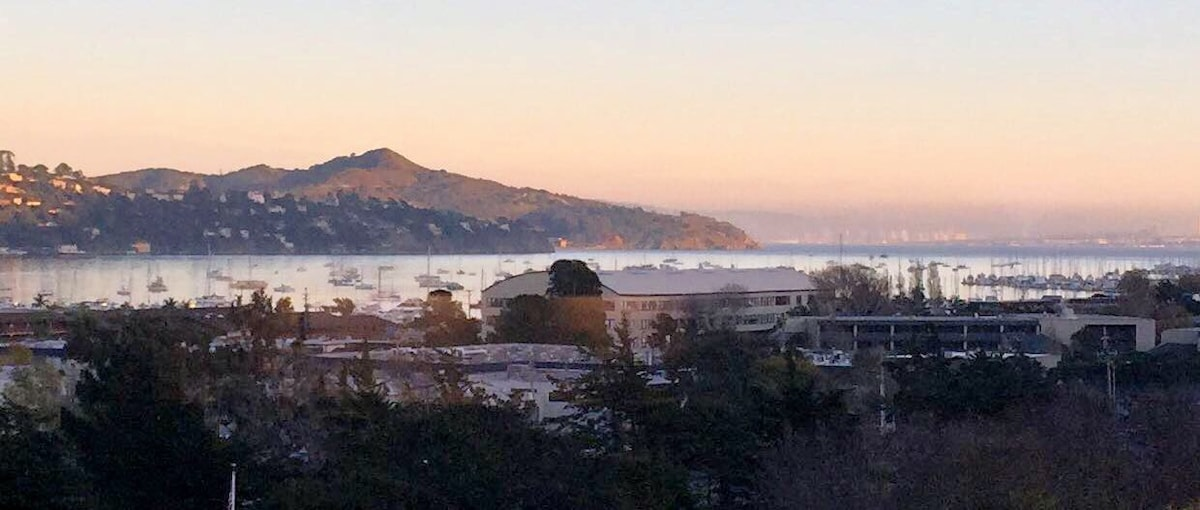 Looking at Angel Island from my Sausalito Sunrise Home.