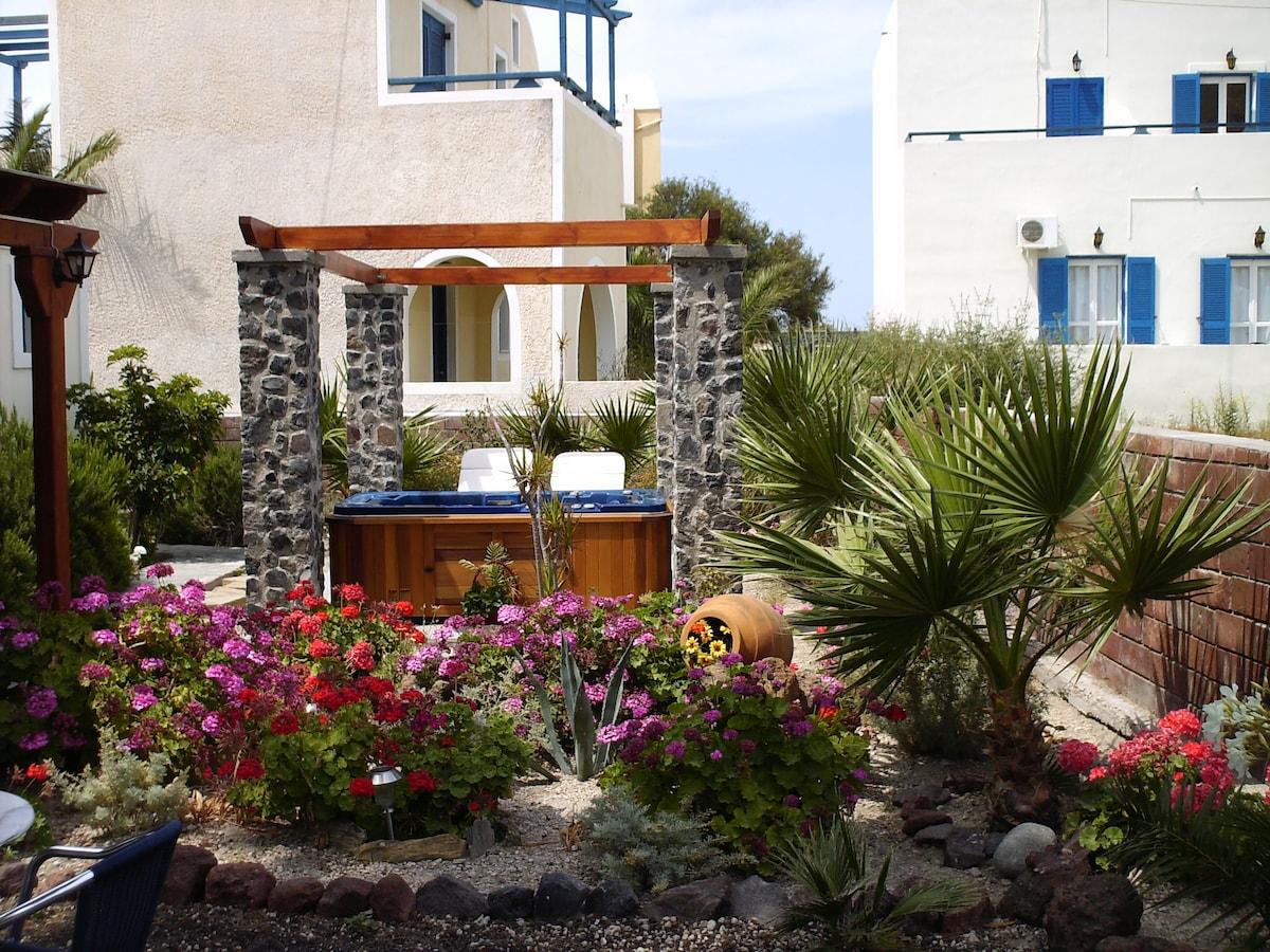the garden of villa