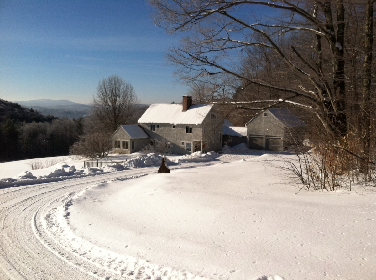 From the top of the driveway in January