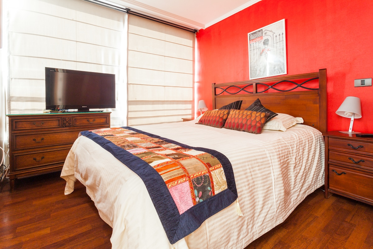 providencia, cozy flat with parking