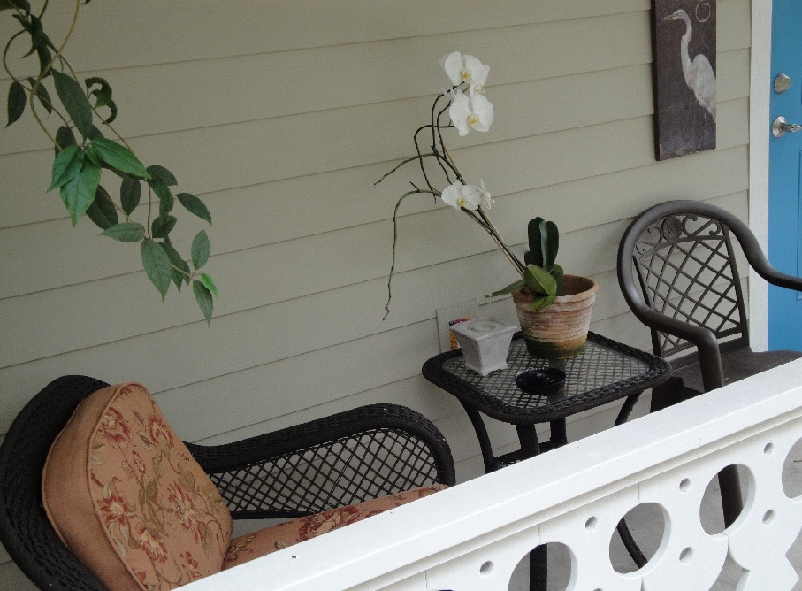 Your private porch, great for coffee or conversation or relaxation