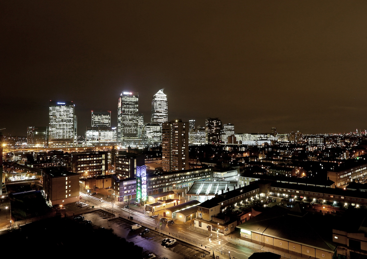 View of Canary Wharf from the balcony
