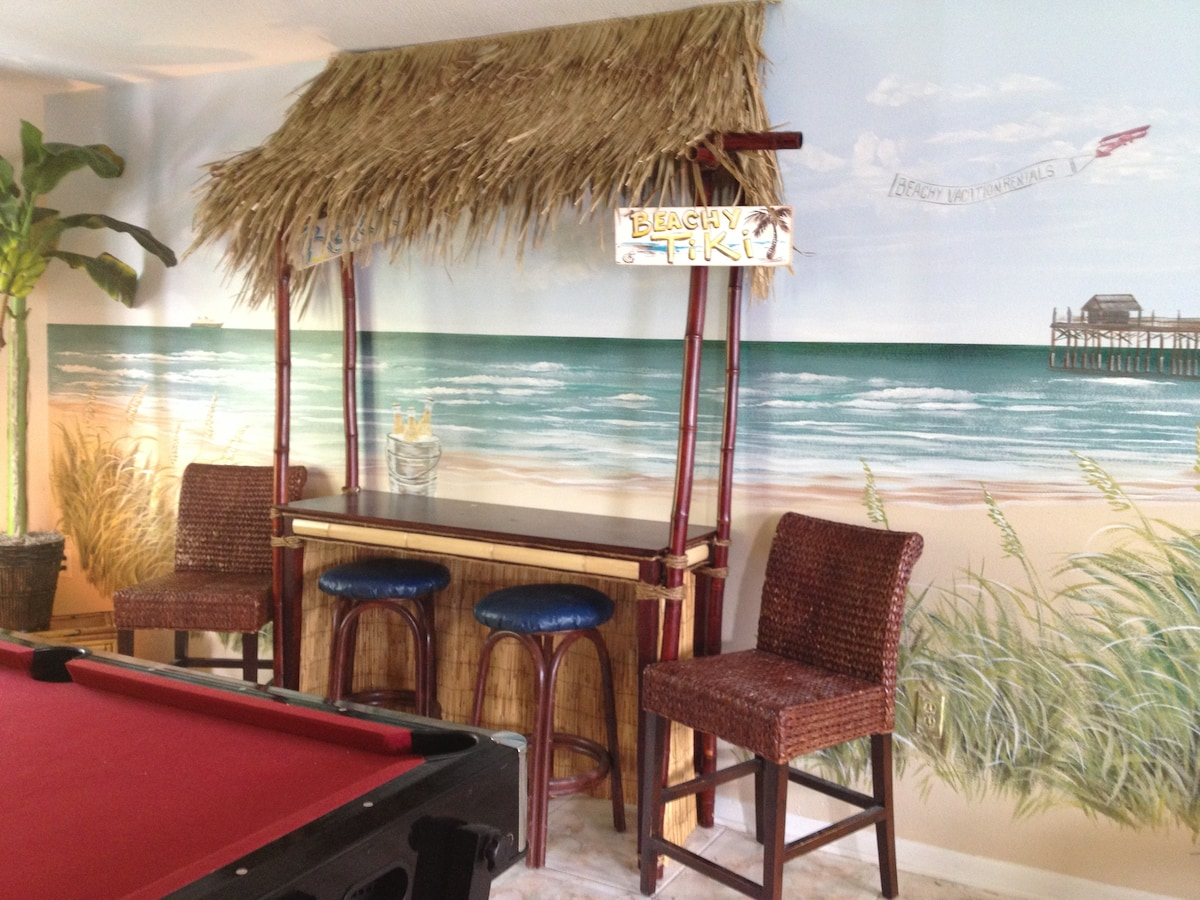 Tiki bar in game room