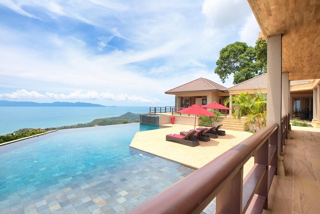 Stunning ocean view pool villa