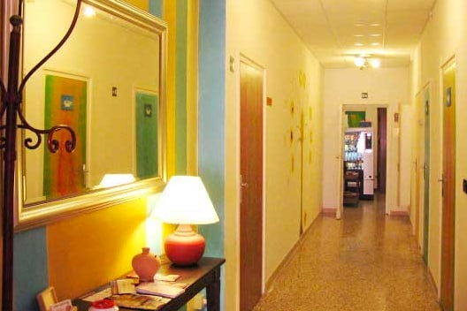 Another view of our colorful hall!