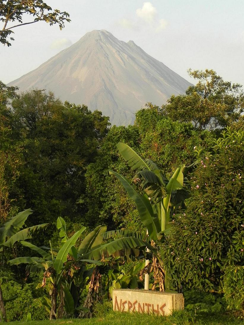 Arenal Volcano view from Nepenthe B&B