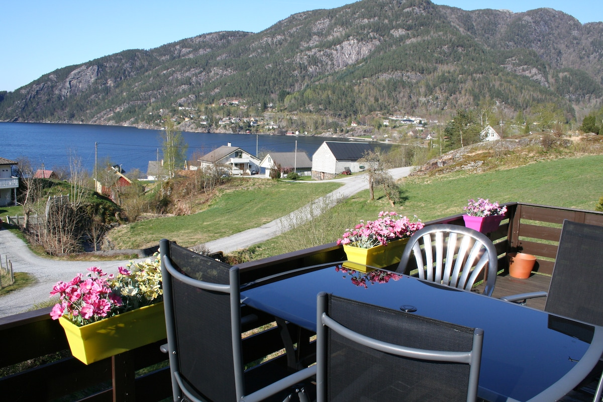 Room 1 - great view of the fjord!
