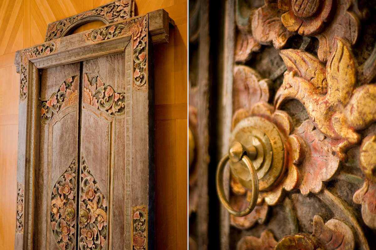 Balinese door detail.