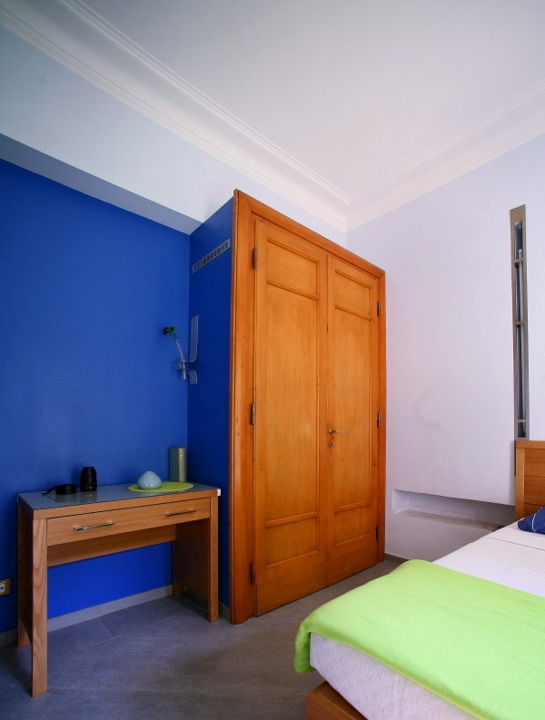 Roomy wardrobe assembled with 1930's original wooden pannels