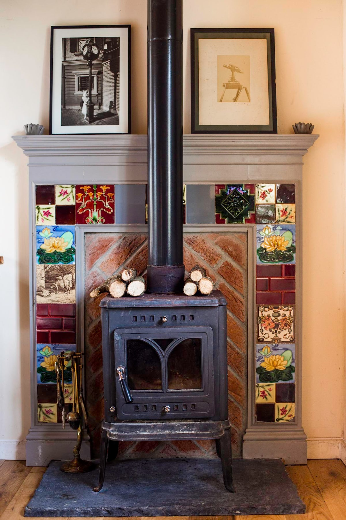 A wood burning stove to stay proper cosy.