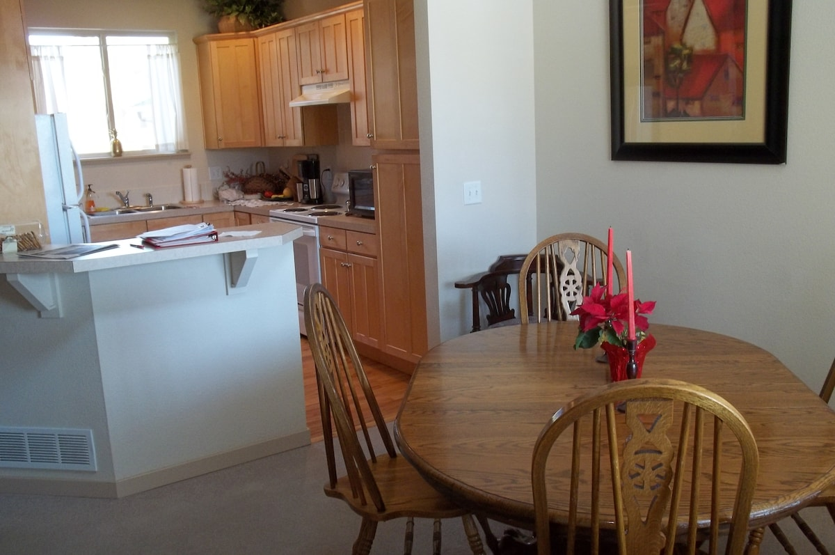 You are welcome to use the shared kitchen and dining area.