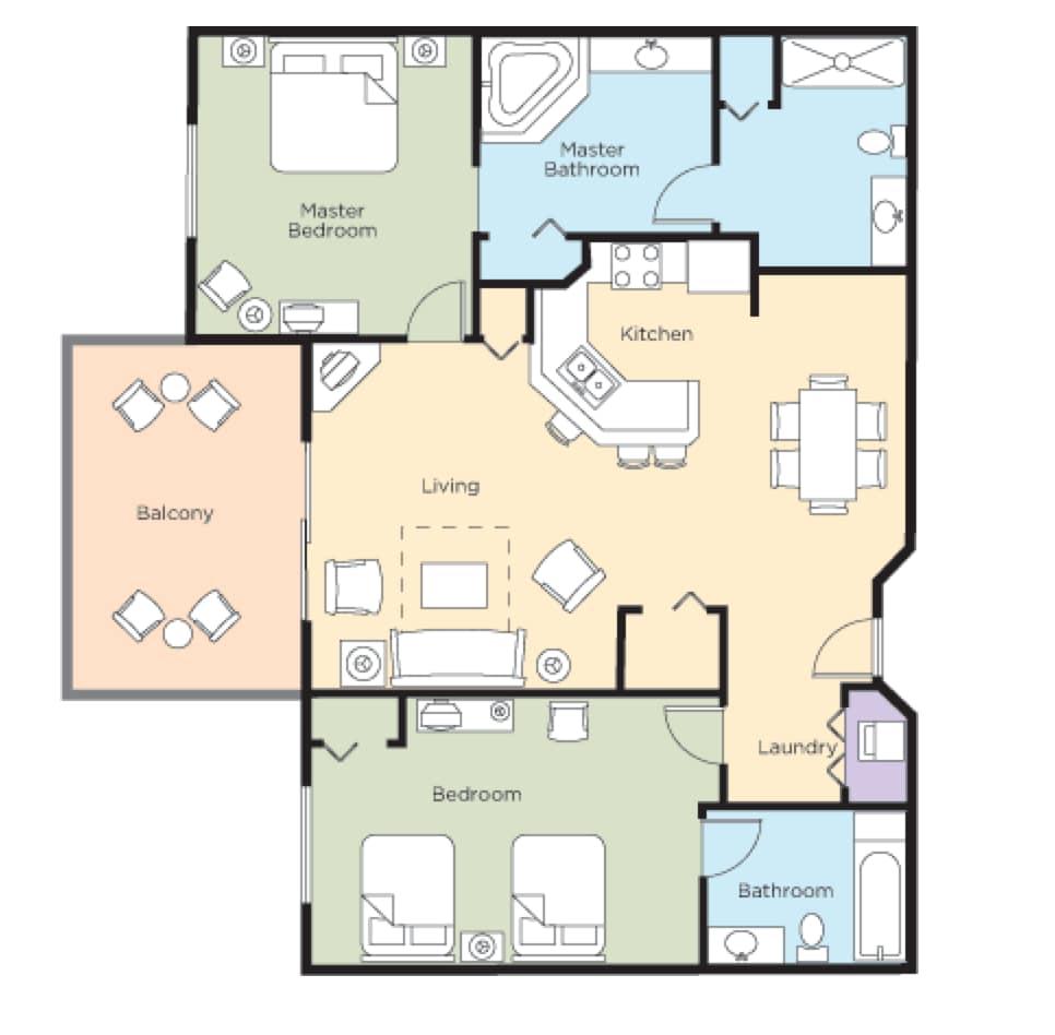 Wyndham Bonnet Creek 2 Bedroom In Orlando