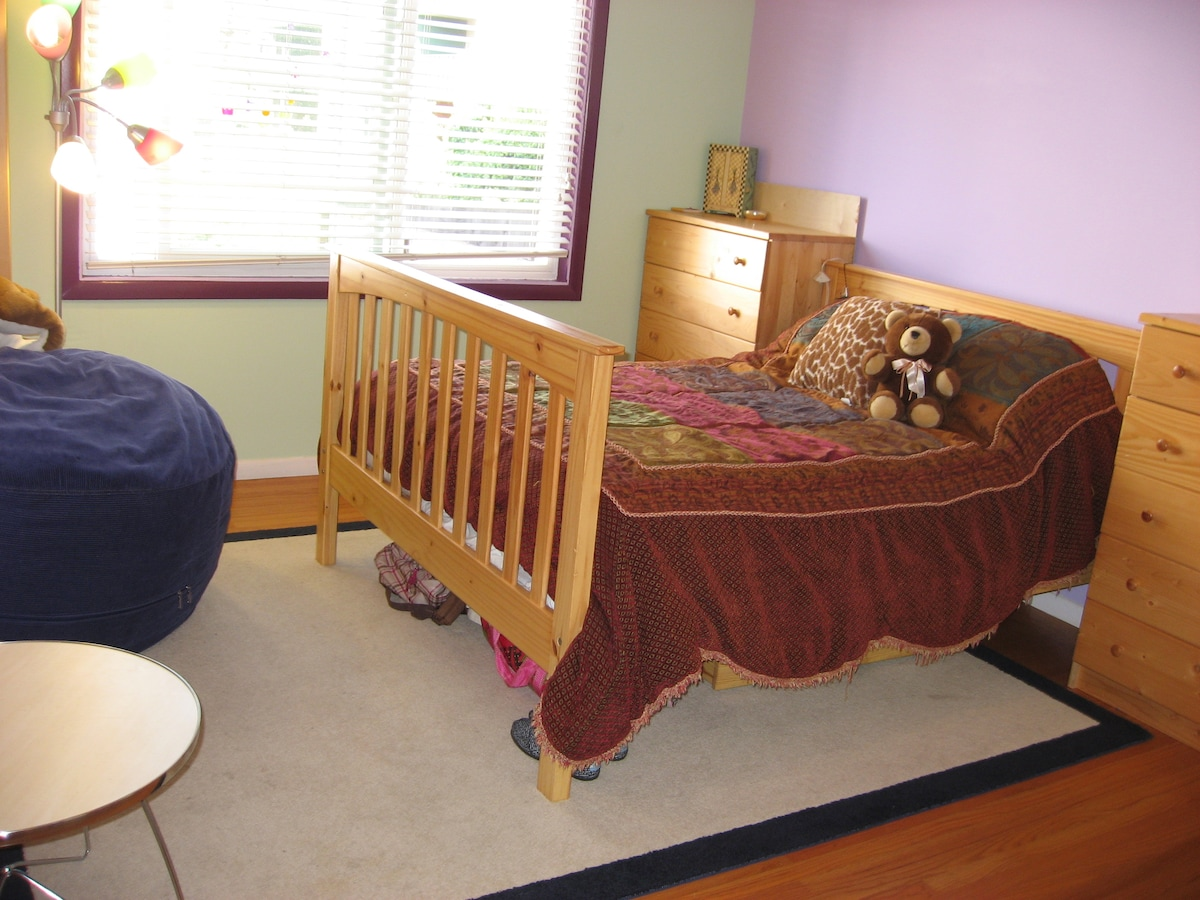 Second bedroom.  Cozy double bed.  Shown standard (without top bunk).