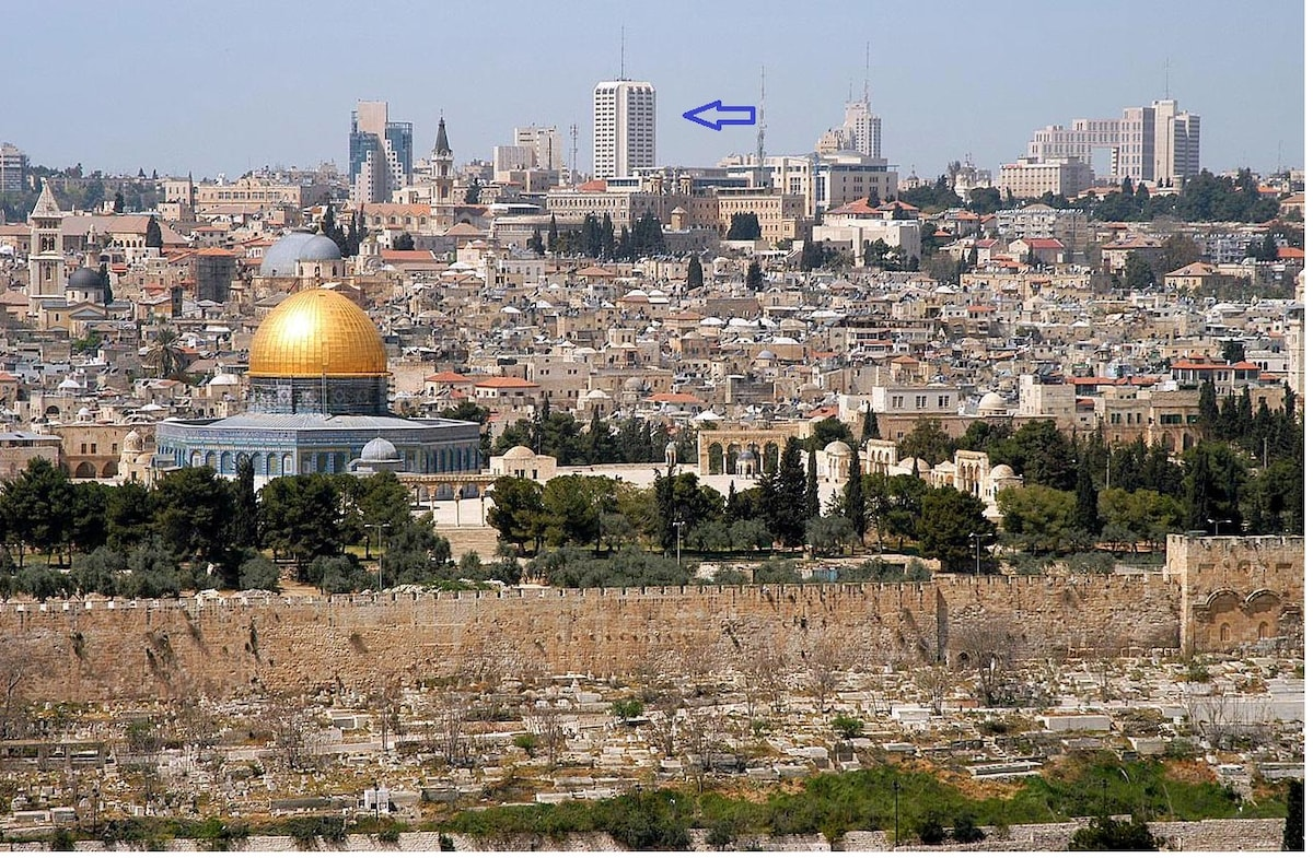 20 minute walk from the Kotel and old city