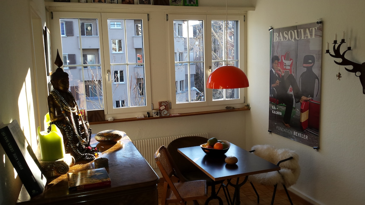central cosy room with balcony