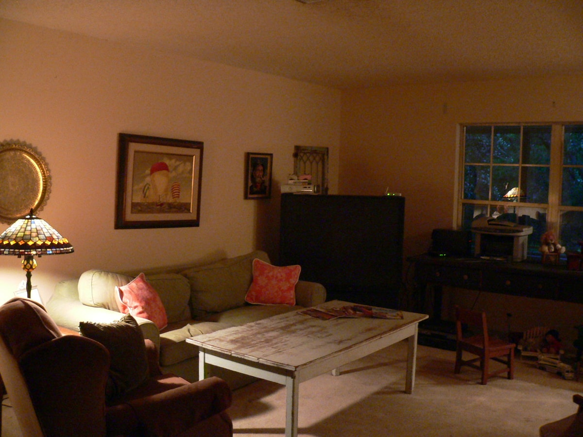 Living Room, TV, DVD and VCR