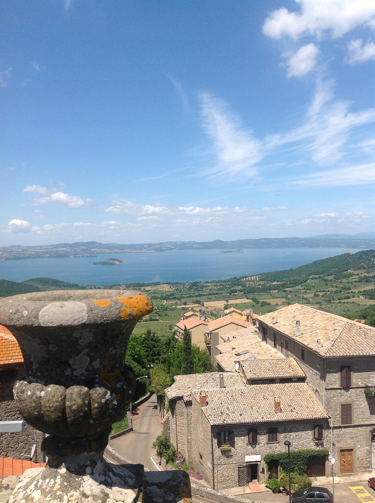 Toscana/Lazio bolig med unik sjel