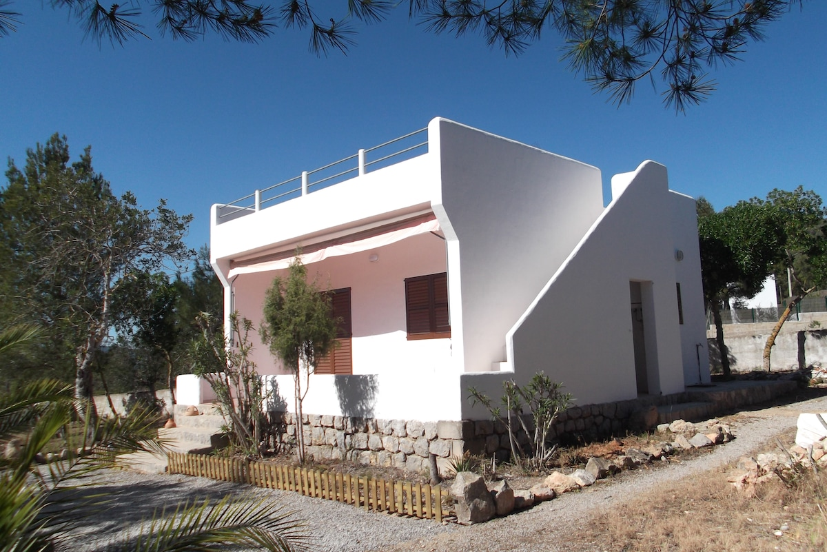 Countryhouse, roofterrace,1km beach