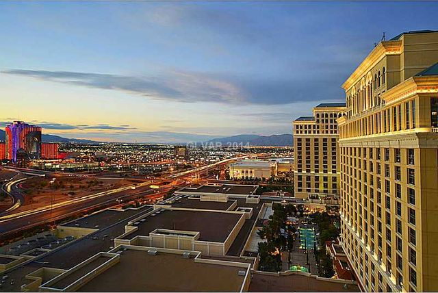 Panoramic view of Las Vegas from the windows