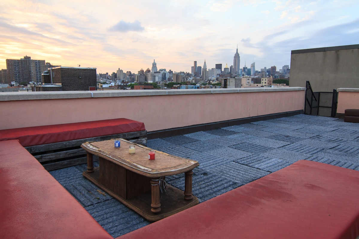 Private Rooftop with Empire State and Panoramic NYC Views
