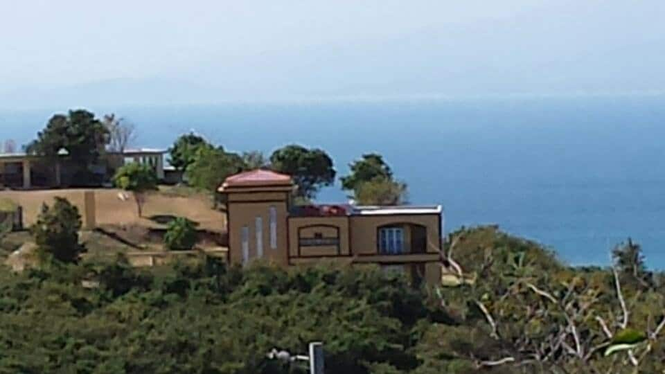 This the house from a nearby hill.