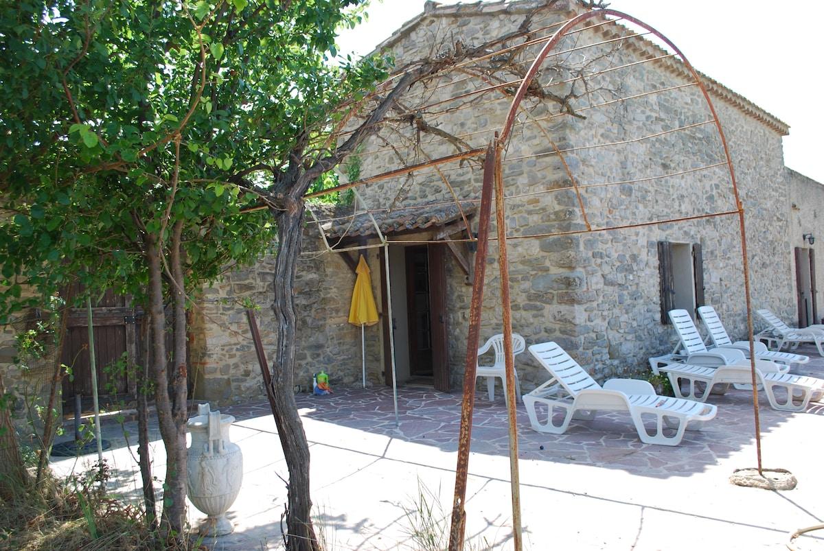 maison jardin du château Paulignan