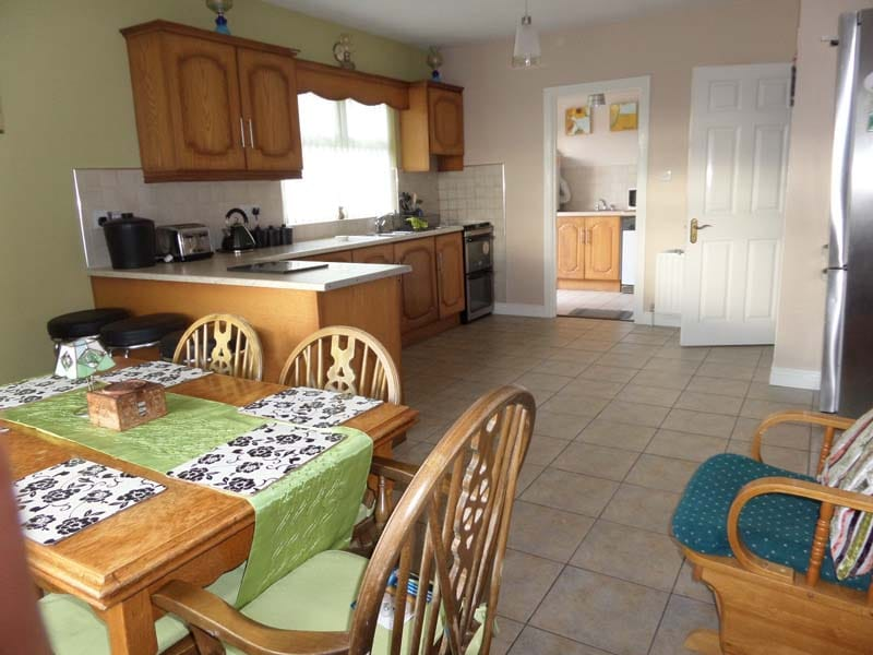 Very spacious kitchen cim dining room with everything you will need for your stay