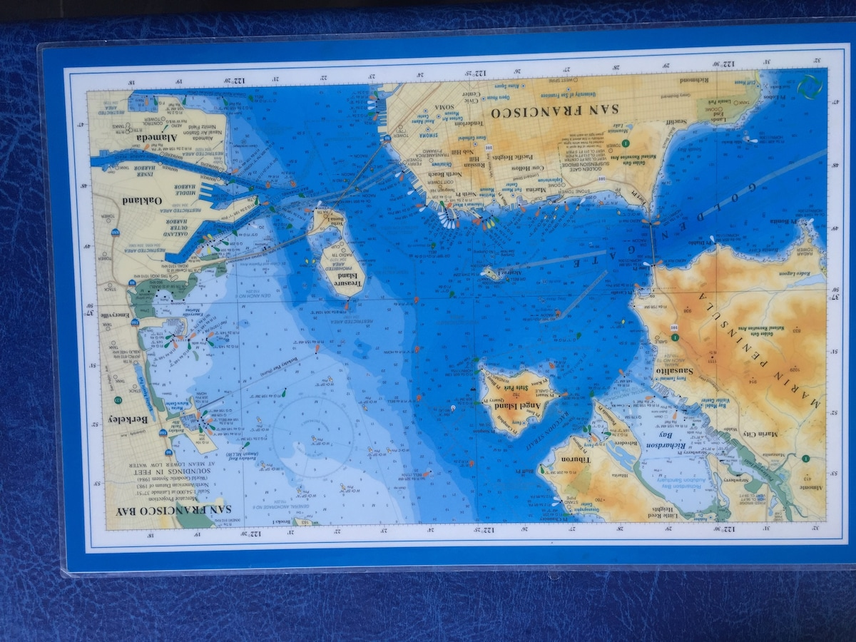SF Bay Area Map- dinner place mats.