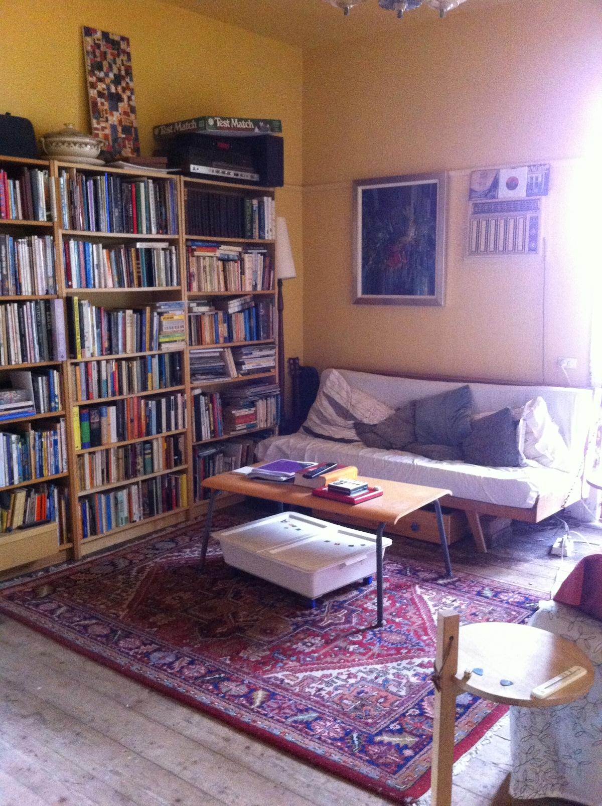 Living room - we like books!!