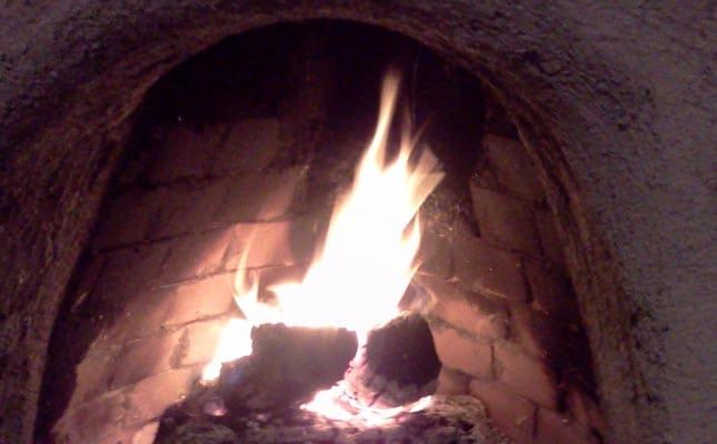 Kiva fireplace in living room