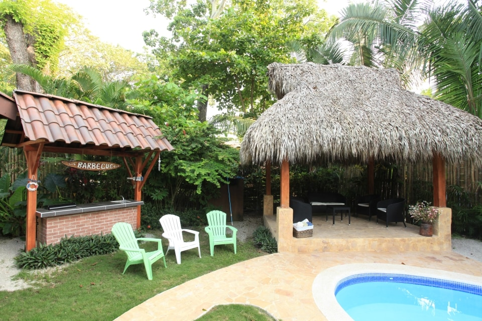 Barbeque and Gazebo
