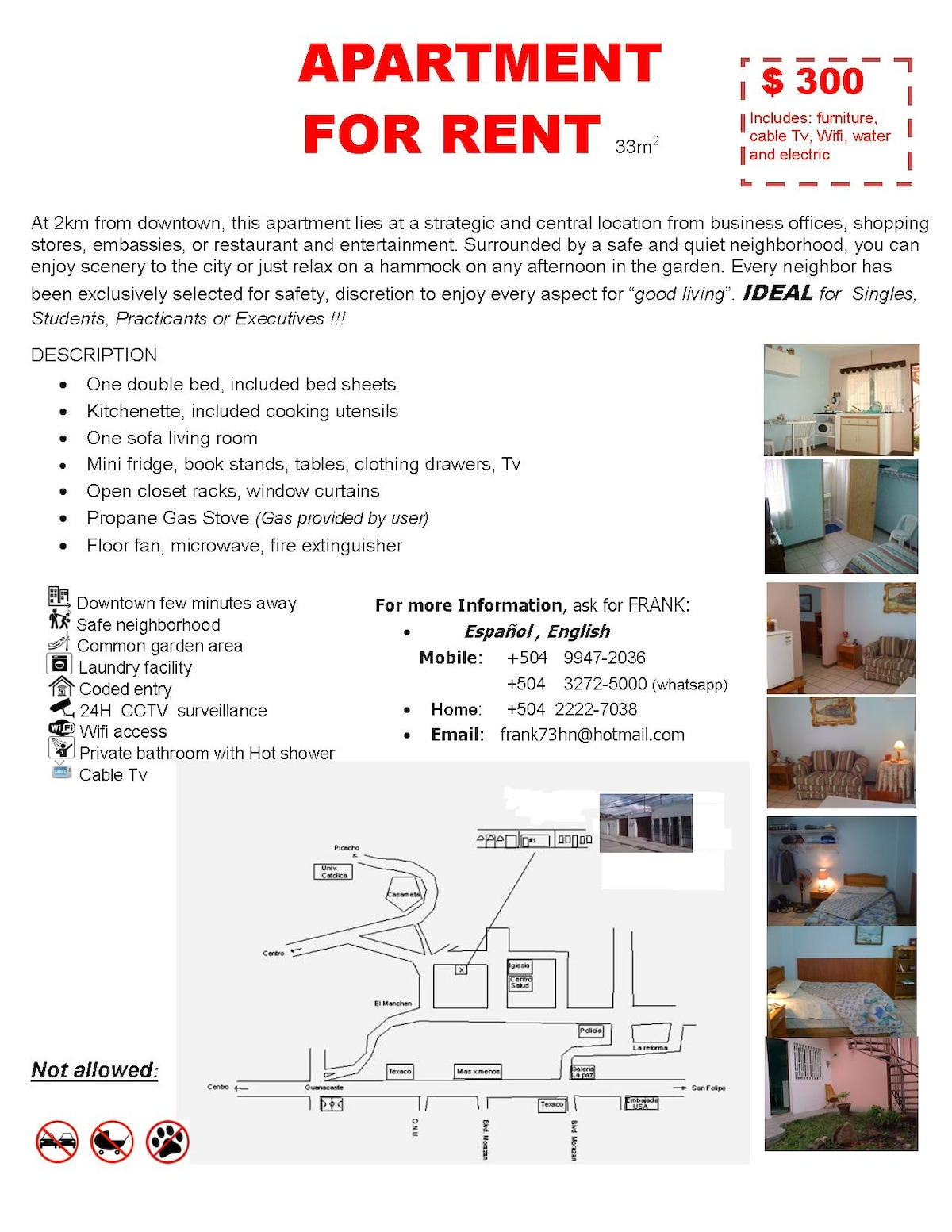 Full Furnished Apartment T:32725000