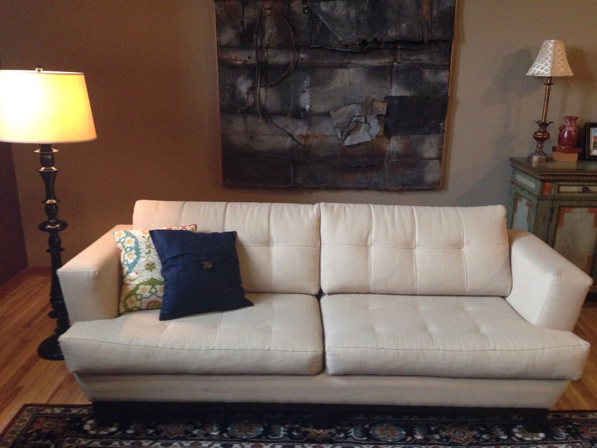 Comfy Sofa in Downtown Loft