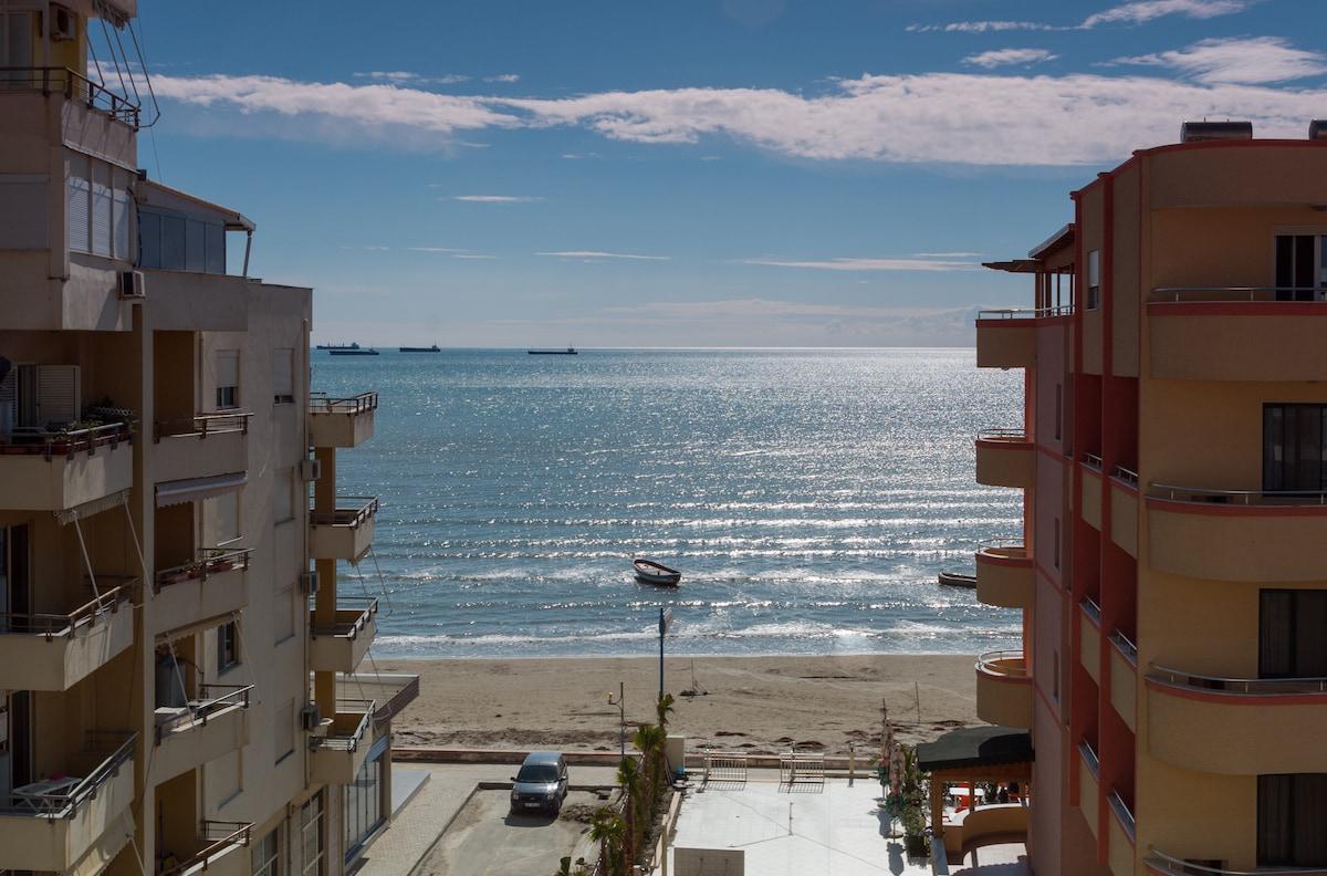 Sea view apartment in Durres Beach