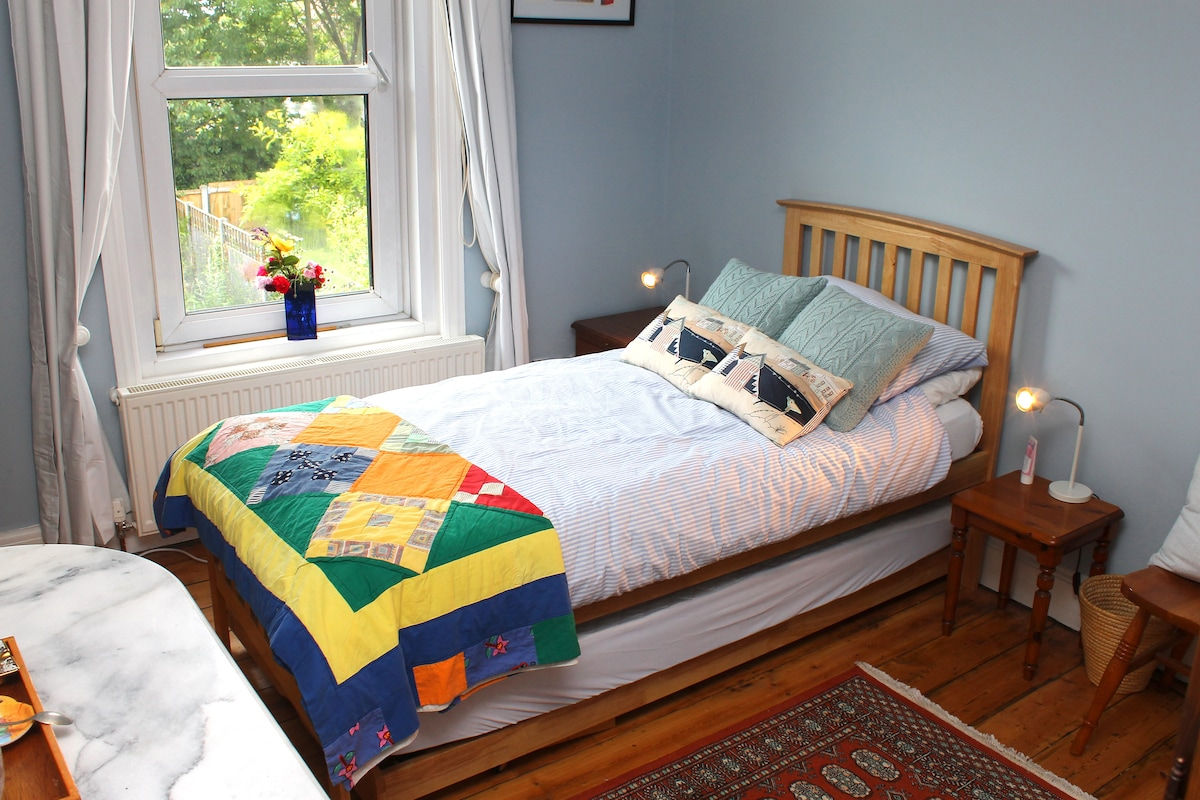 Bedroom 1 - two single beds or made into a double