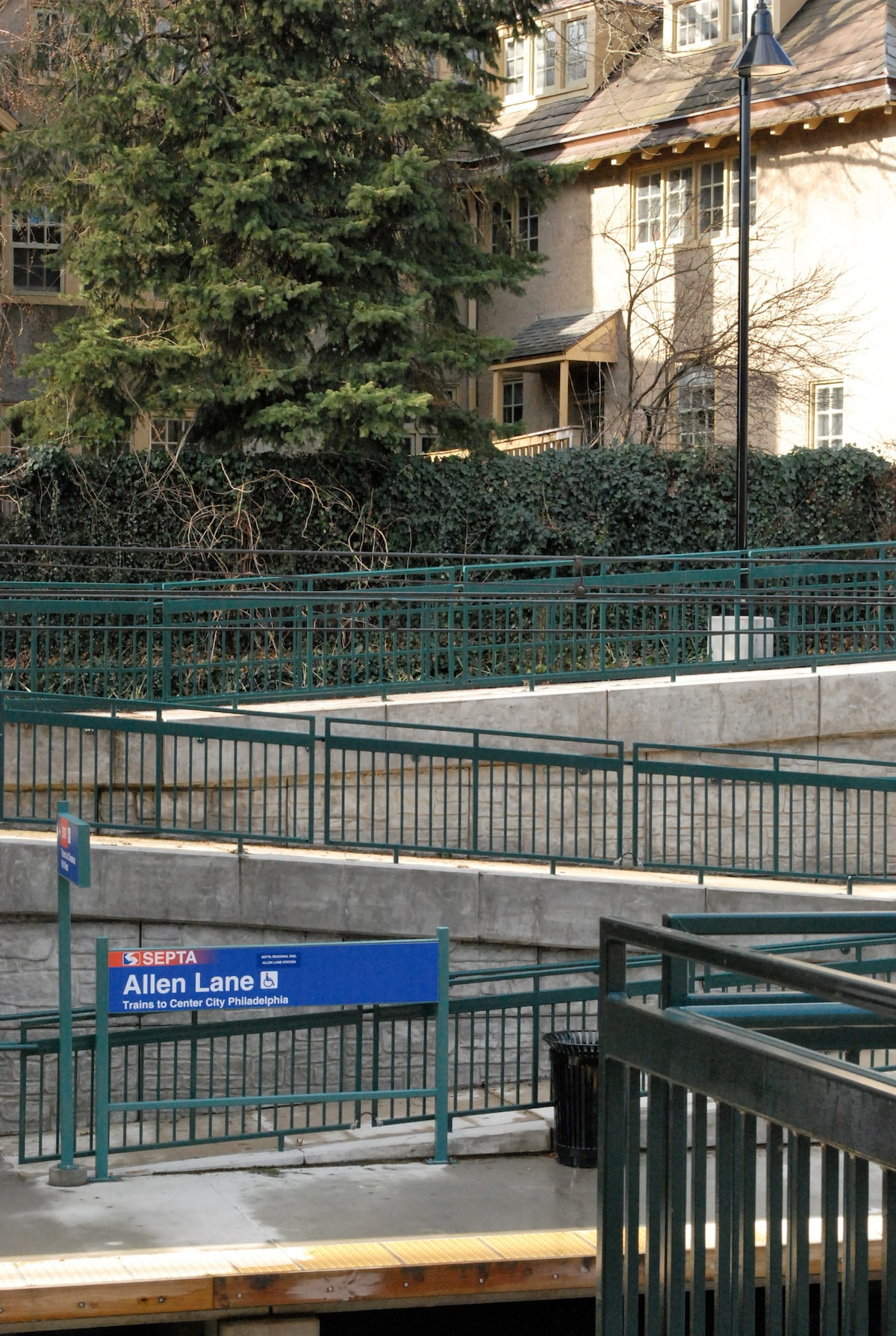 Allen Lane Septa Train Stop on the Chestnut Hill West line gets you downtown in 20 minutes.