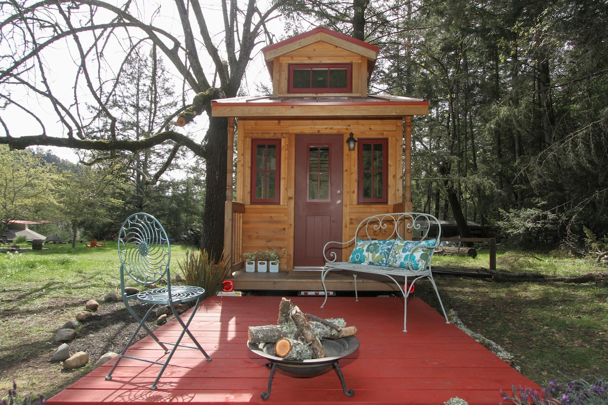 LUCKY LINDY Tiny House Near Meadow
