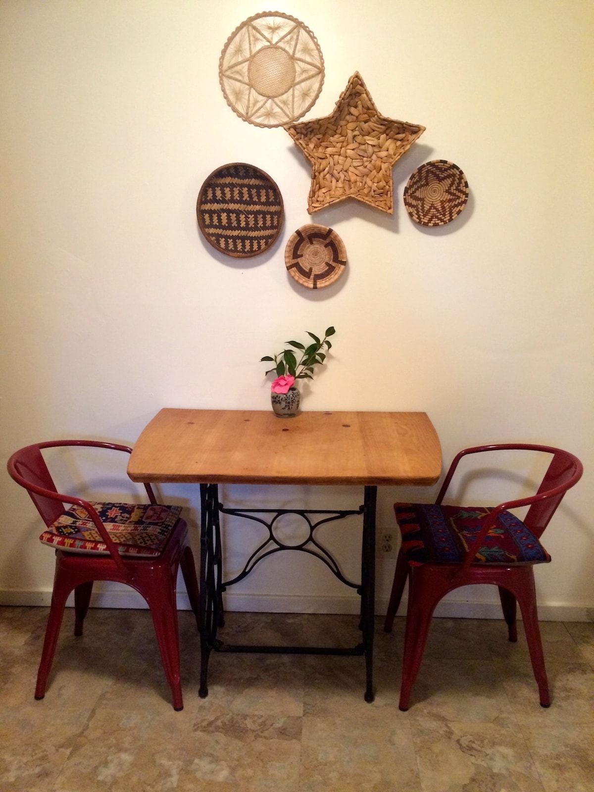 Sweet little dining nook, in the kitchen