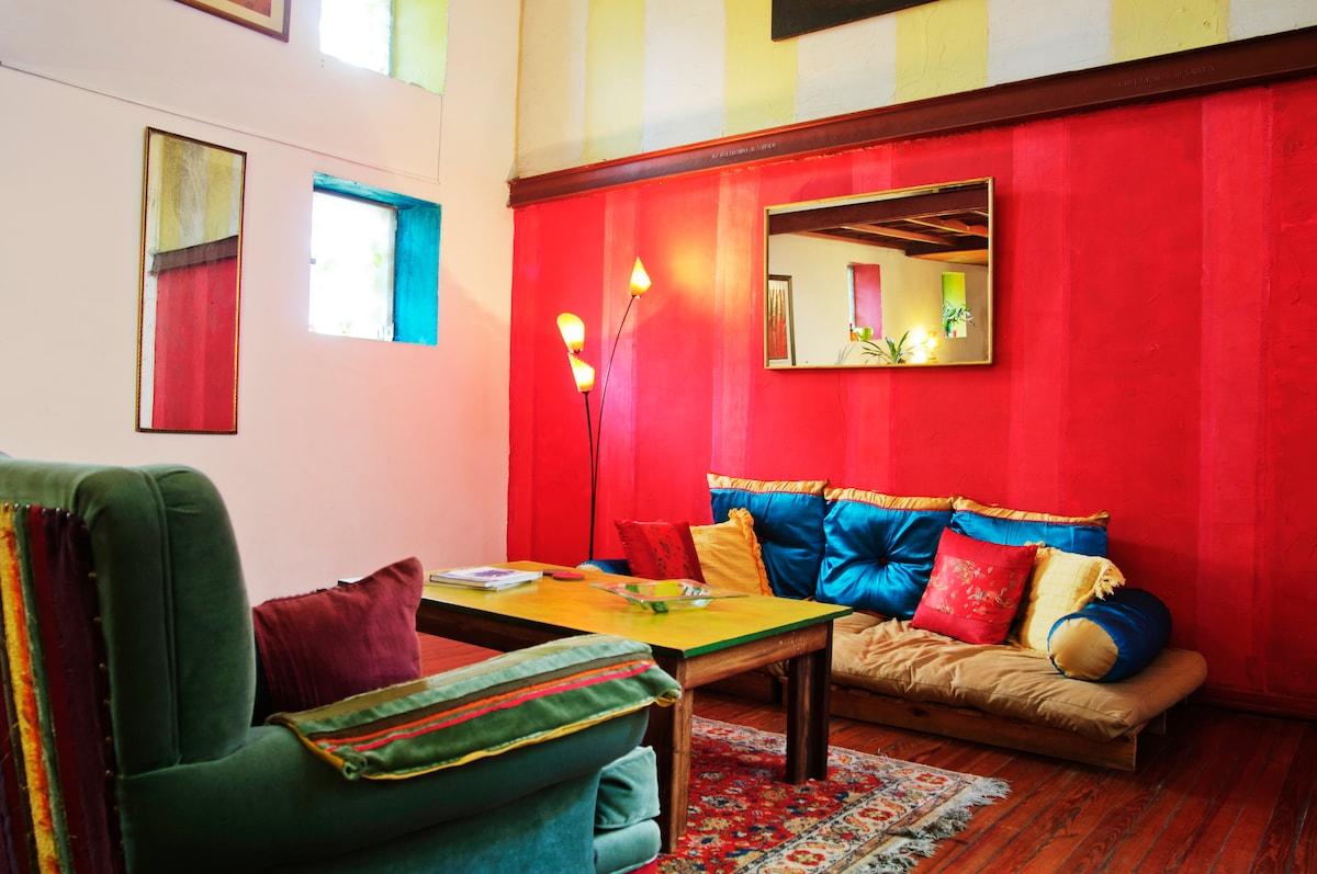 Living room. Bold, bohemian style.