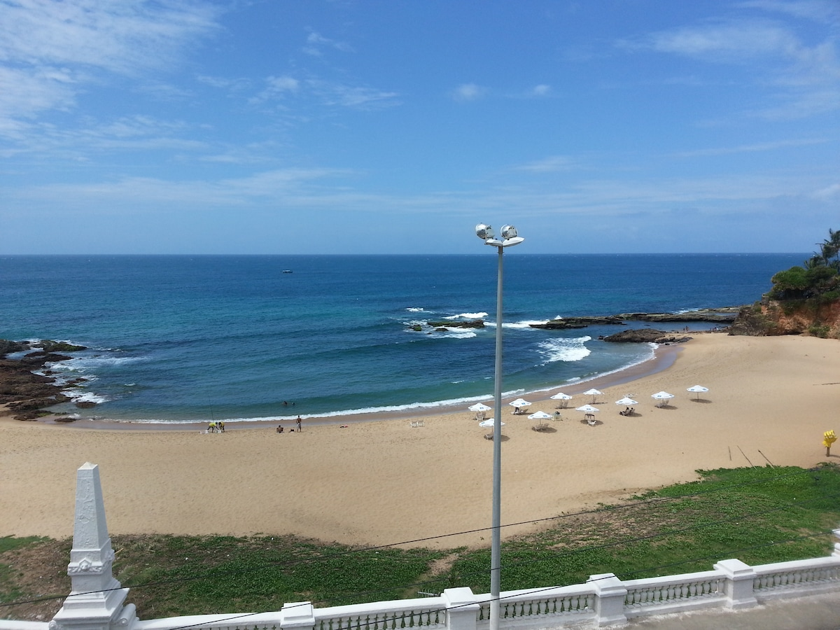 Yes, this is the view from your balcony!  Enjoy the idyllic Praia (beach) da Paciência in the heart of Salvador between Rio Vermelho and Ondina/Barra (you can walk along the oceanfront to the center of Rio Vermelho and Barra)