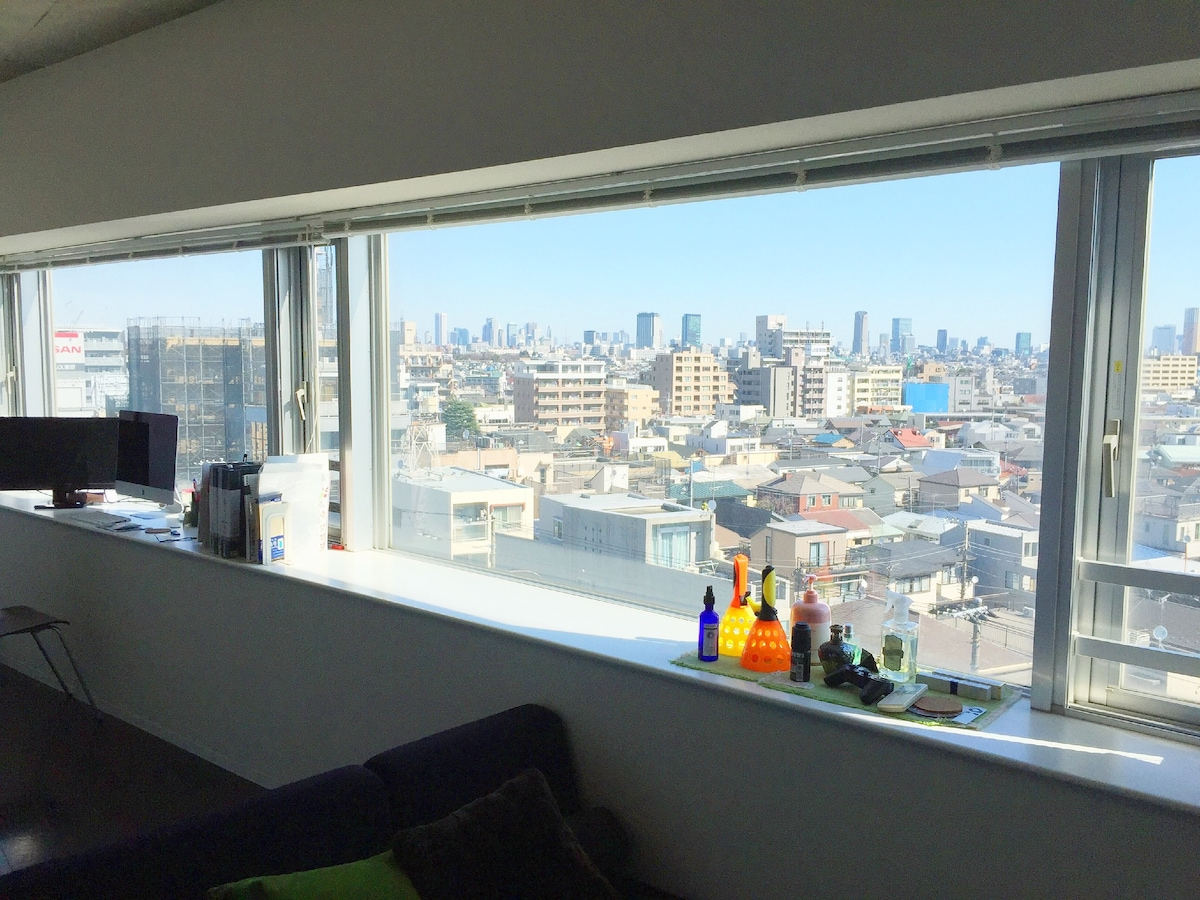 Great view of Tokyo(Free Wi-Fi)